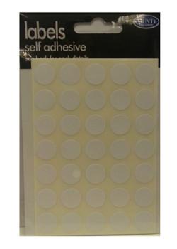 245 White Self Adhesive 13mm Diameter Circle Labels/Stickers