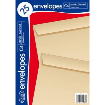 Pack of 25 C4 Manilla Envelopes