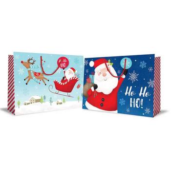 Super Jumbo Flitter Landscape Christmas Bag Cute Santa