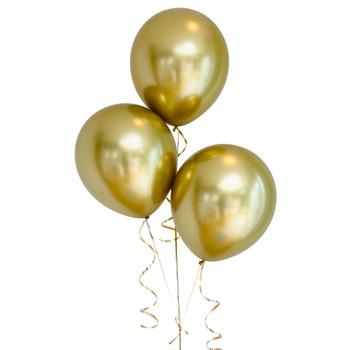 "Bag of 50 Metallic Gold Colour 12"" Latex Balloons"