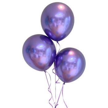 "Bag of 50 Metallic Purple Colour 12"" Latex Balloons"