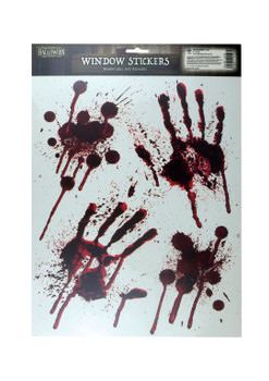 Stickers Window Halloween Blood Deco Hand