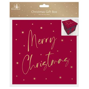 Tartan Design Medium Square Flat Pack Christmas Gift Box