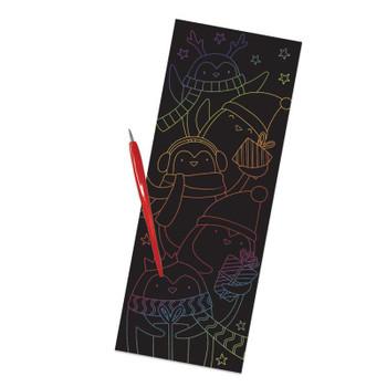 Christmas Scraper Rainbow Foil