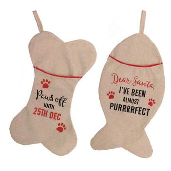 Dog or Cat Hessian Stocking
