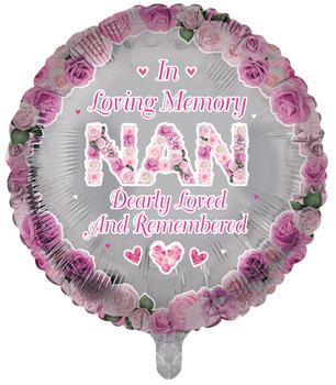 In Loving Memory of Nan Round Remembrance Balloon