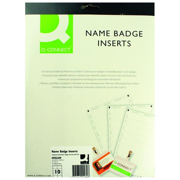 Pack of 25 54x90mm 10 Per Sheet Name Badge Inserts