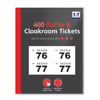 1 to 400 Raffle and Clockroom Tickets