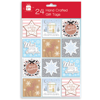 24 Hand Crafted Christmas Gift Tags