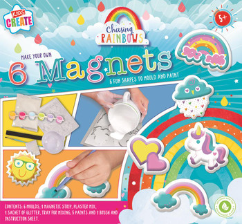 Make Your Own Paint and Mould Rainbow Magnets