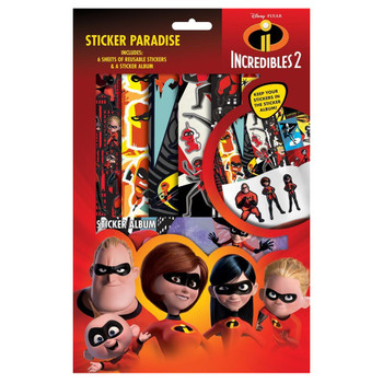Incredibles 2 Sticker Paradise