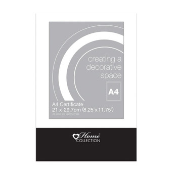 A4 Certificate Glass Clip Frame by Home Collection