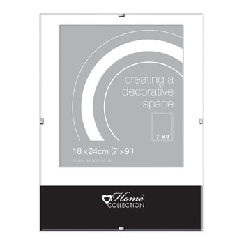 """7x9"""" Glass Clip Frame (18x24cm) by Home Collection"""