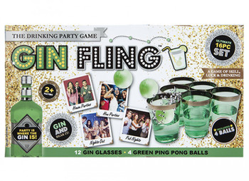 Gin Fling Drinking Party Game In Printed Box