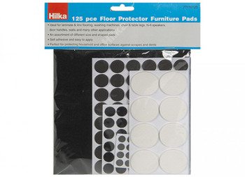 Pack of 125 Pieces Assorted Floor Protector Furniture Pads