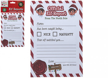 Pack of 25 A5 Christmas Official Elf Reports