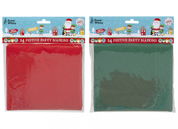 Pack of 24 2Ply Christmas Napkins