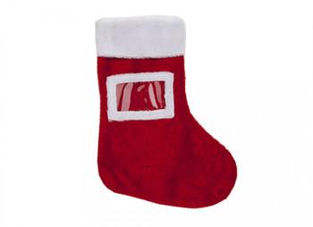 "20"" Plush Photo Christmas Stocking"