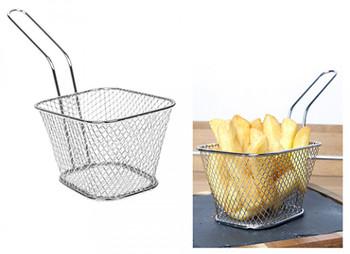Mini Oblong Fryer Basket with Handle