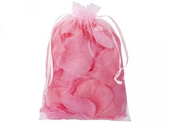 Fabric Decorative Pink Petals In Organza Bag