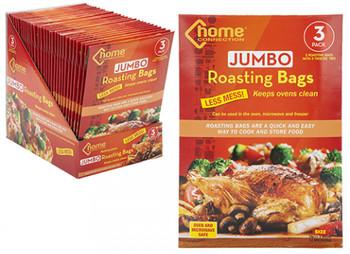 Pack of 3 Jumbo Roasting Bags with Ties