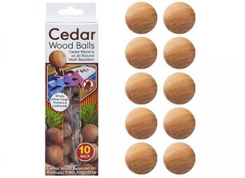Pack of 10 Genuine Cedar Wood Balls