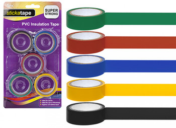 Pack of 5 Thick PVC Insulating Tapes