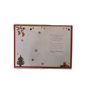 With Love To My Boyfriend Xmas Tree Design Foil and Glitter Finished Christmas Card