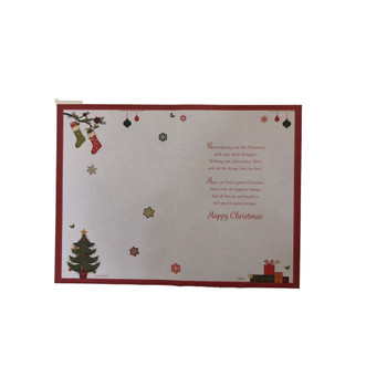 For A Special Daughter and Partner Foil and Glitter Finished Christmas Card