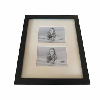 """Kenro Sienna Series Black 7x5"""" Double Photo Frame"""