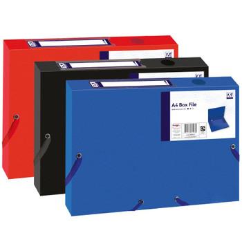 A4 Box File with Elastic Closure