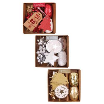 Box of 14 Pieces Luxury Christmas Accessories