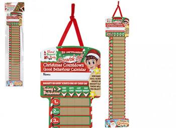 Elf Scratch Off Christmas Count Down Advent Calendar