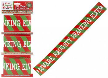 Pack of 3 Christmas Elf Design Printed Tape