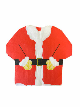 Pack of 16 2Ply Christmas Santa Suit Napkins