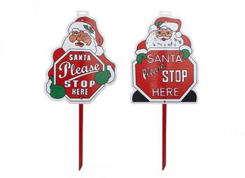 Christmas Santa Stop Sign