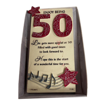 50th Birthday Timeless Words Plaque