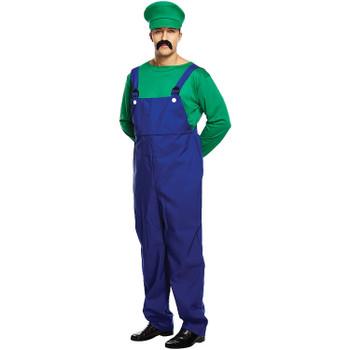 Adult Green Super Workman Fancy Dress Up Costume