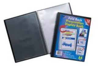 A4 12 Pocket Foldback Presentation Display Book