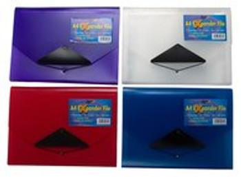 13 Pocket A4 Expander File (Assorted Colours)