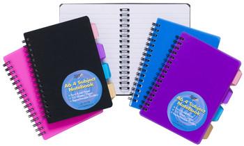 10 x A6 4 Part Subject Notebook
