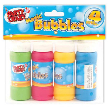 4 Tubs of 60ml Magic Bubbles