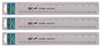 12in/30cm Clear ShatterResist Ruler