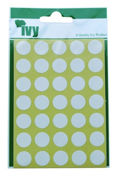 Pack of 245 White Circular Dots 13mm Stickers