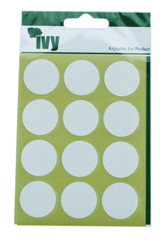 Pack of 84 White Circular Dots 24mm Stickers