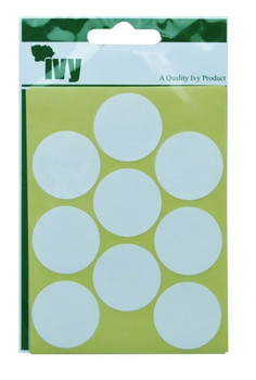 Pack of 63 White Circular Dots 29mm Stickers