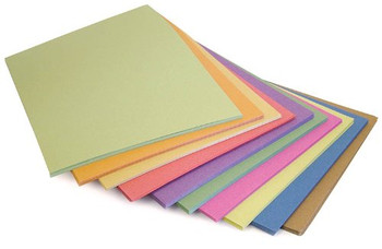 Pack of 100 A4 Multicoloured Sugar Paper