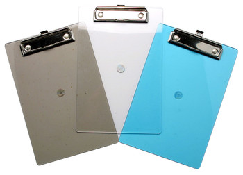 A5 Translucent Coloured Tint Clipboards