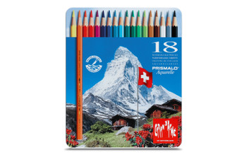 Caran d'Ache 18 Prismalo Aquarelle Colouring Pencils in Metal Tin