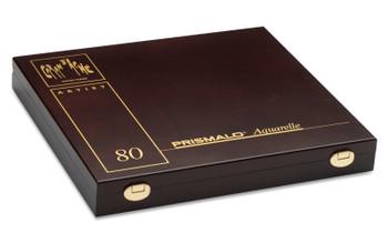 Caran d'Ache 80 Prismalo Aquarelle Colouring Pencils in Luxury Wooden Box